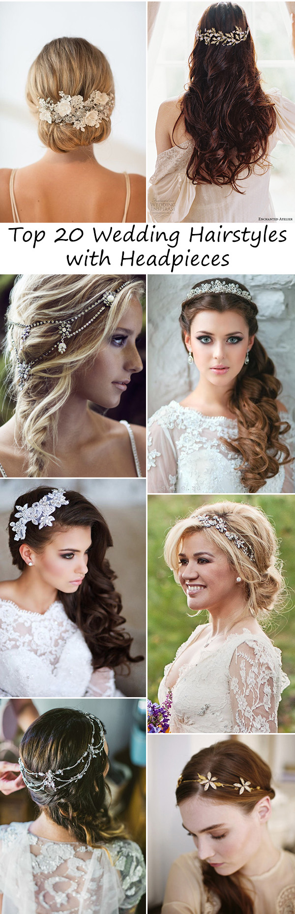 wedding accessories-20 charming bridal headpieces to match