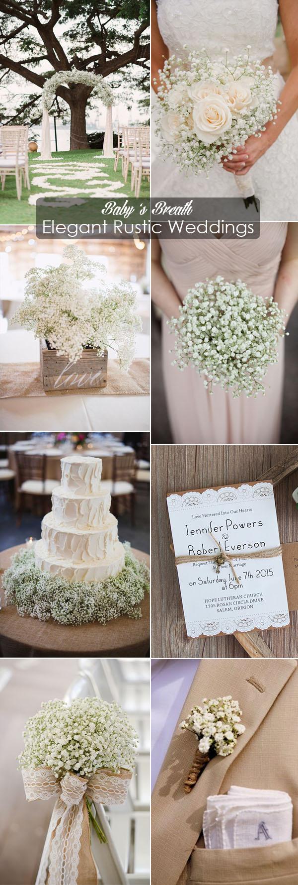 inspirational baby s breath elegant rustic wedding ideas
