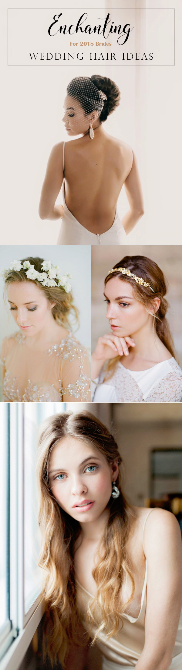 20 drop-dead bridal hair styles & wedding accessories trends
