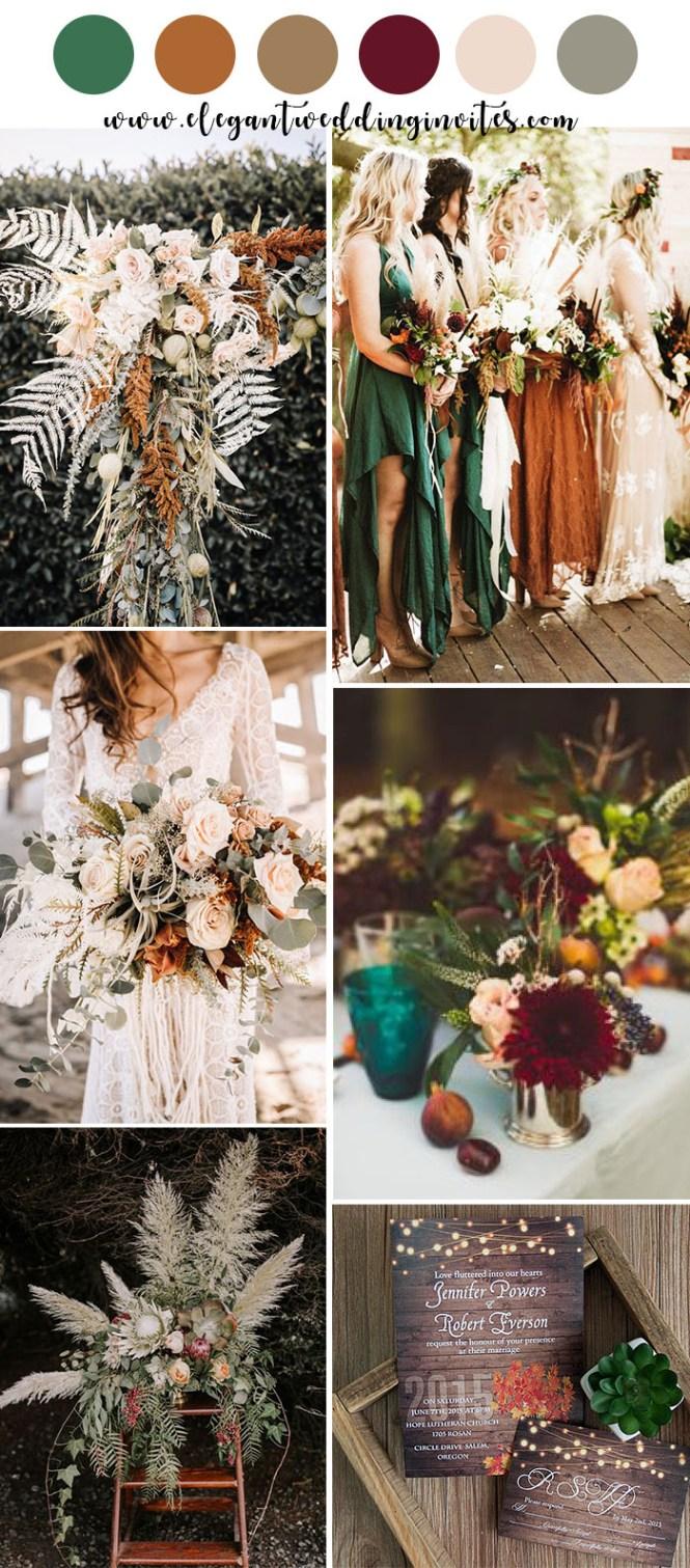 Moody Boho Chic Wedding Ideas With