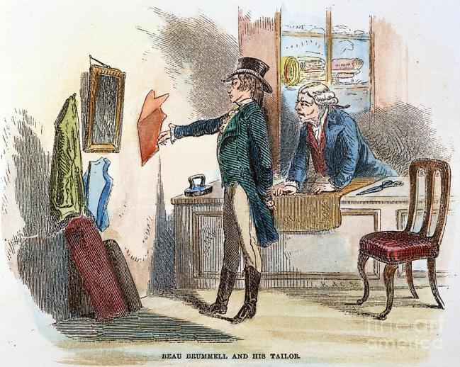 George Brummel and his tailor