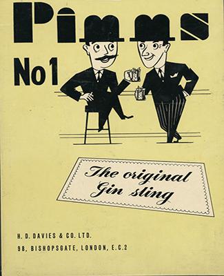 Pimm's vintage adv