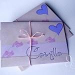 Biglietti ricordo del battesimo per Camilla