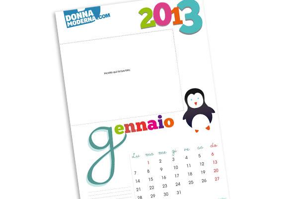 Calendario Donna Moderna Bambino
