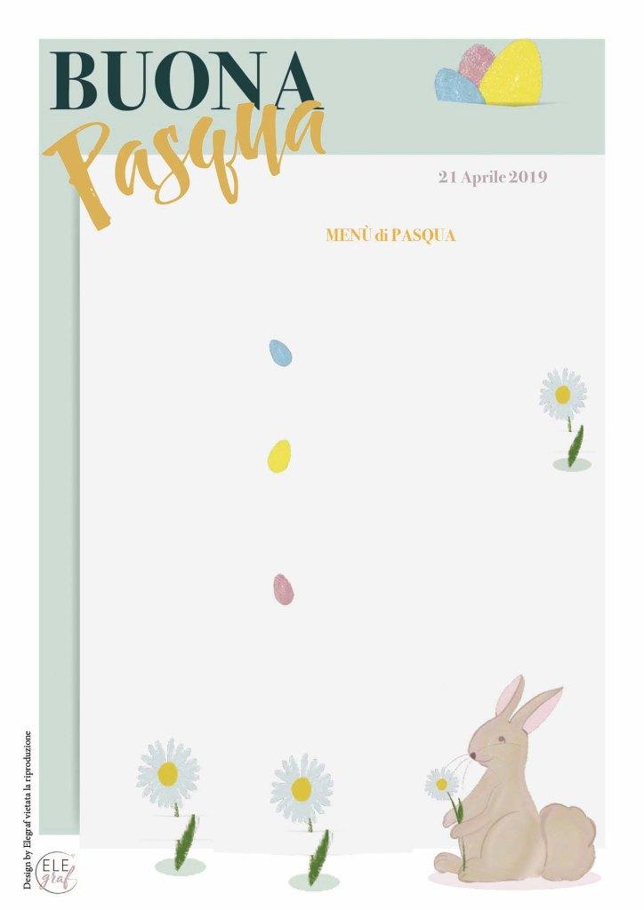 Menu scaricabile Pasqua interattivo