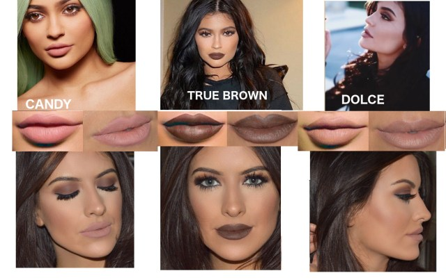 Kylie jenner lip kit dupes, Candy K, Dolce K, True Brown