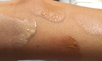 smashbox studio skin swatch vs BB water swatch