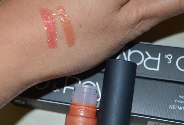 Glo & Ray review lip gloss swatches