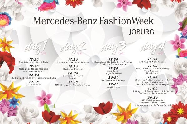 Mercedes Benz Fashion Week Schedule