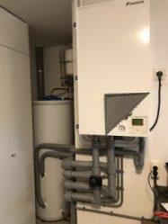Warmtepomp en boiler installatie (binnen)