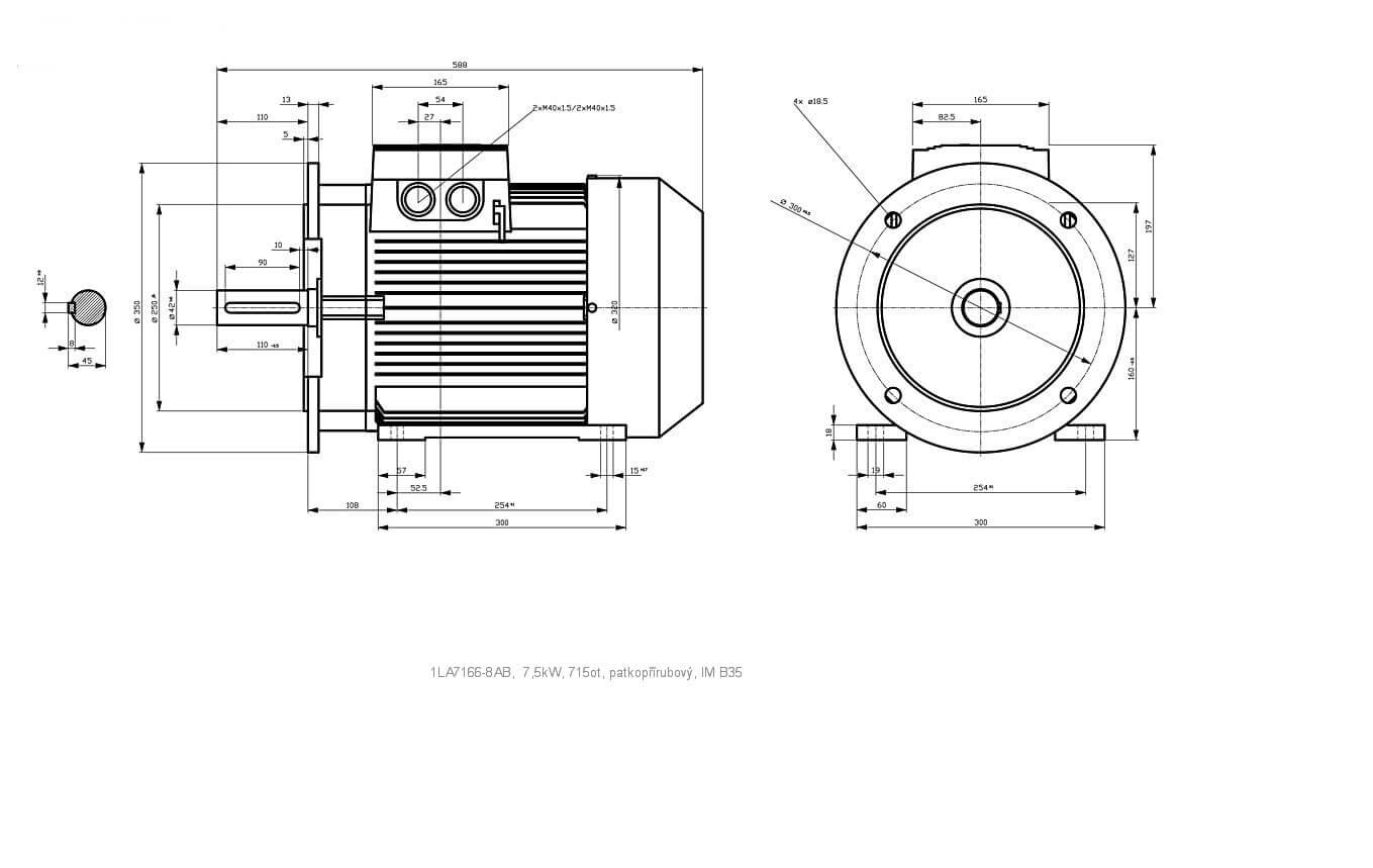 Elektromotor Siemens 1la 8ab 7 5kw 715ot