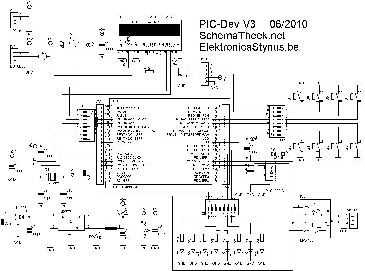 18f Development Board Elektronicastynus