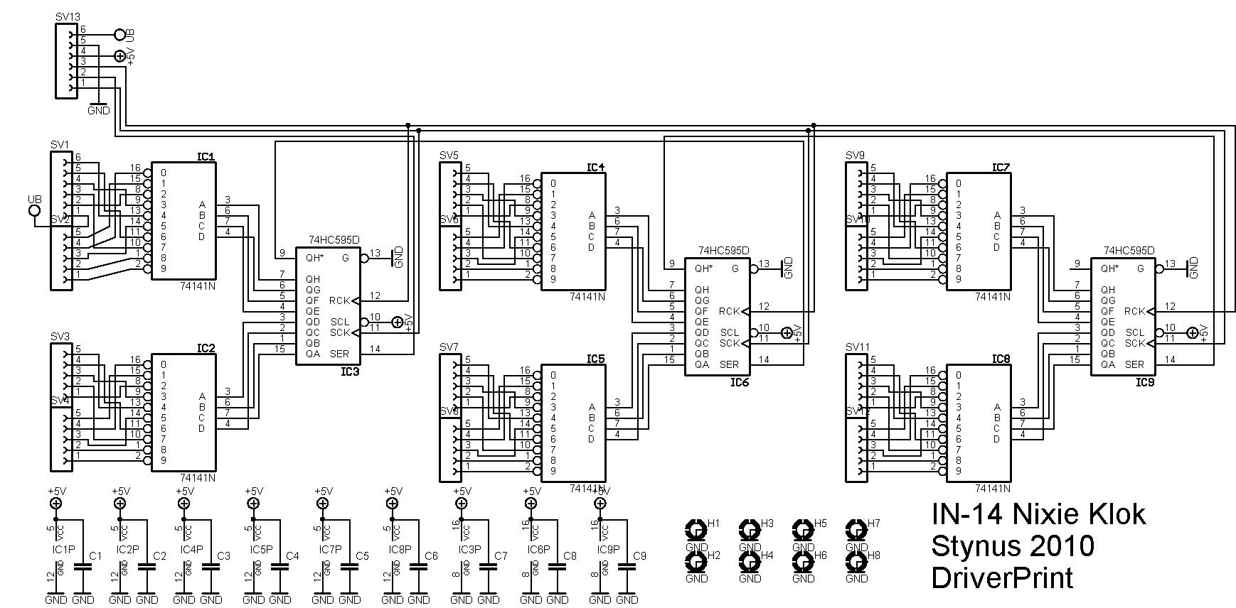In 14 Nixie Clock Elektronicastynus