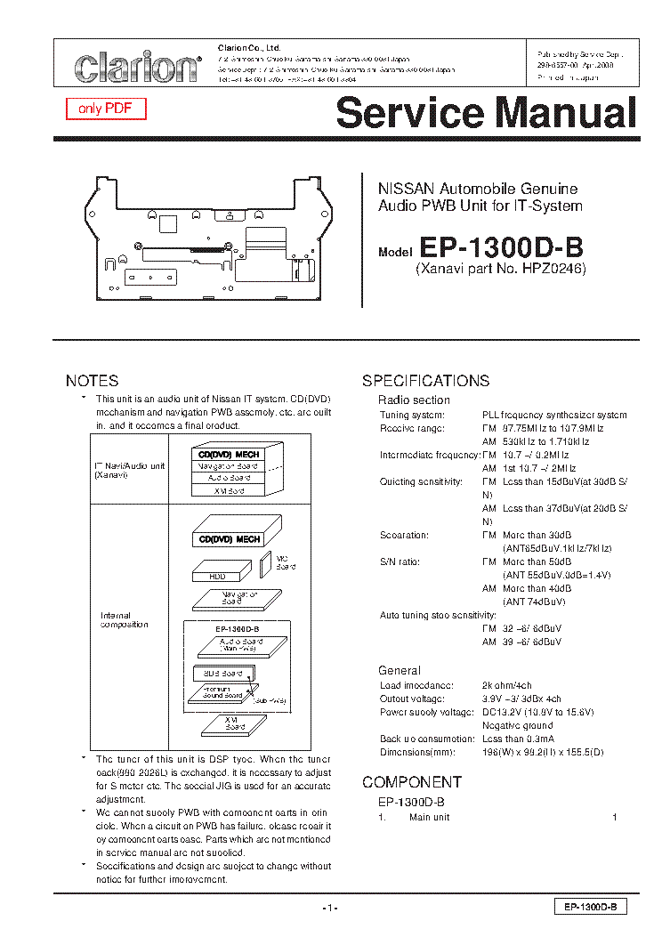 clarion_ep1300db.pdf_1?resize\=665%2C941\&ssl\=1 clarion cz500 wiring diagram wiring diagrams clarion cz501 wiring diagram at fashall.co