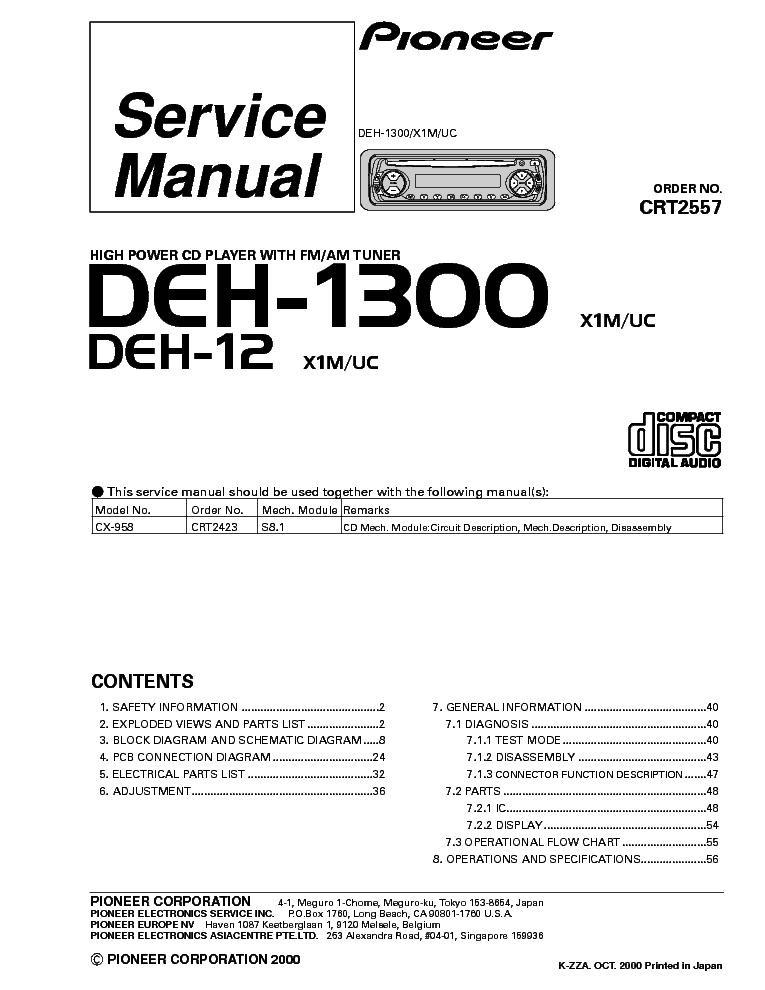 pioneer_deh 1300_12 car_audio.pdf_1 pioneer deh x1710ub wiring harness diagram wiring diagrams for pioneer deh x1710ub wiring diagram at edmiracle.co
