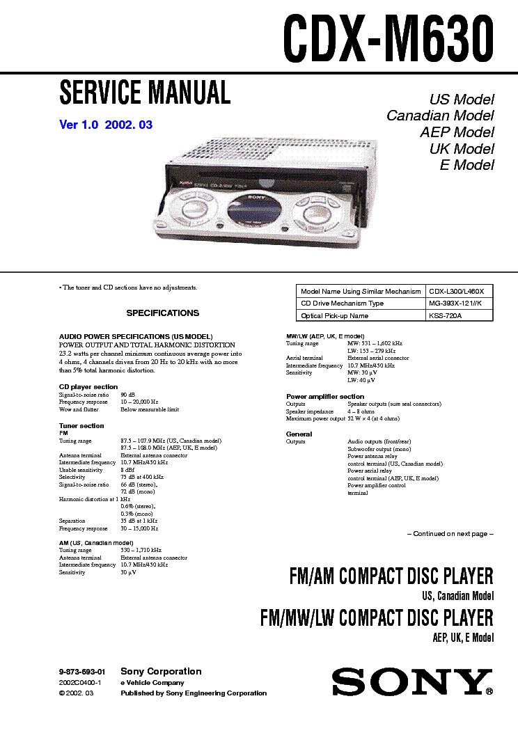 sony_cdx m630.pdf_1?resize\=665%2C941\&ssl\=1 sony cdx gt270mp wiring diagram sony wiring diagrams collection  at cos-gaming.co