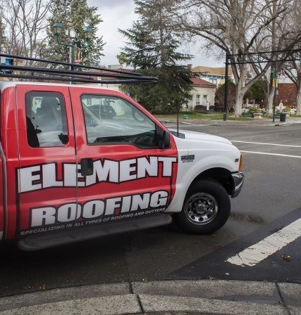 image of truck from element roofing in concord