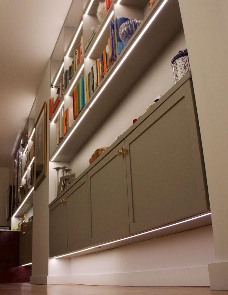 recessed shelf lighting elemental led