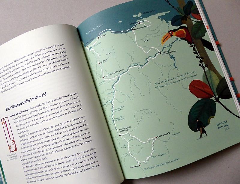 Landkarte in Mehnert/Lieb Alexander von Humboldt