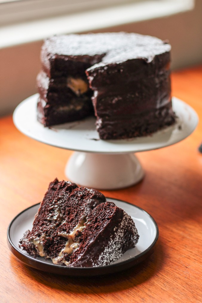 One-Bowl Gluten-Free Chocolate Cake with Fudge Frosting
