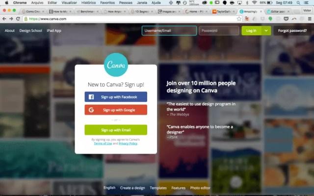 canva web based software para social media