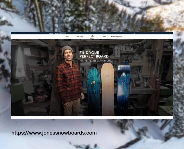 Jones Snowboards Website