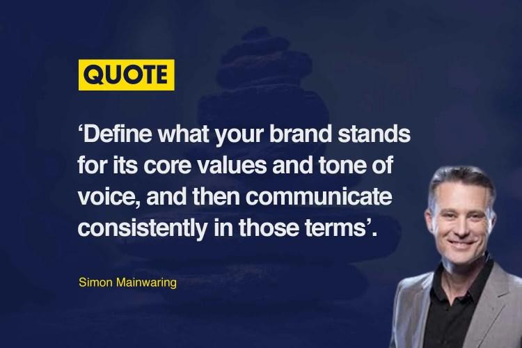 Simon Mainwaring Brand Values