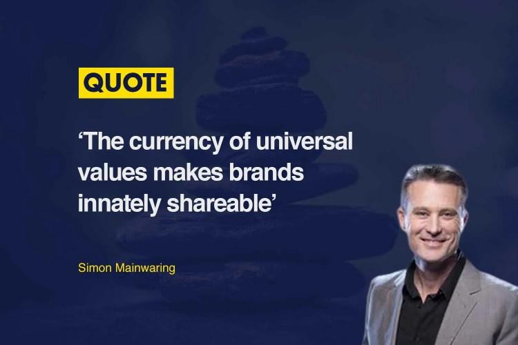 Simon Mainwaring Brand Values Quote