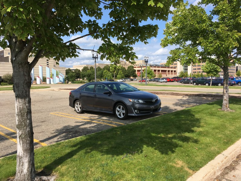 Parking in the shade of a tree keeps your car cool.