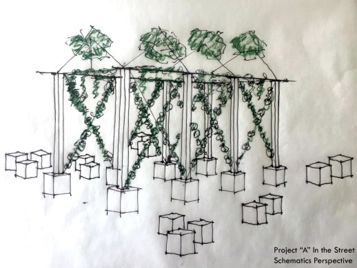 Structure of crossing vines by Amanda Harrell-Seyburn.
