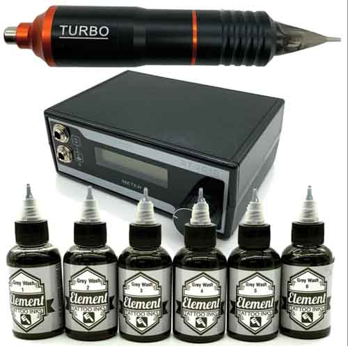Professional tattoo kit by Element Tattoo Supply