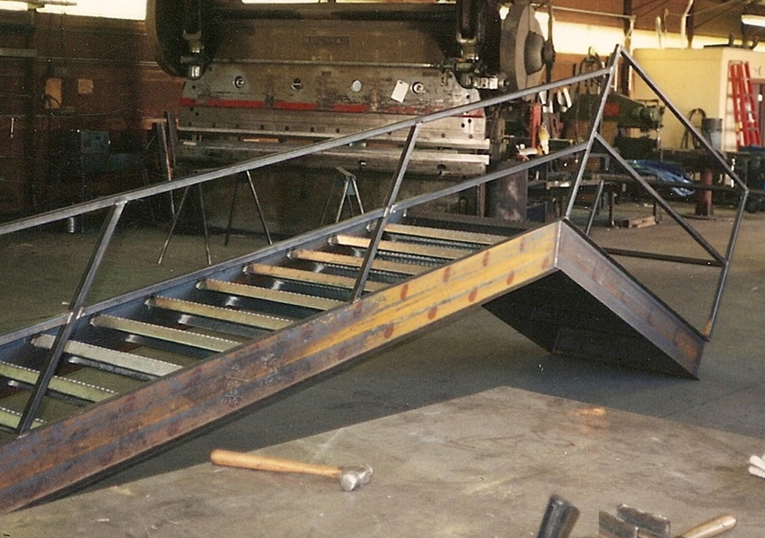 Industrial Stairs Catwalks Ladders Elemetal Fabrication And | Handicap Rails For Steps | Grab Rail | Deck | Porch Railing | Bed Rails | Activated Led