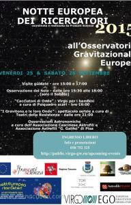 La notte Europea dei Ricercatori ad EGO