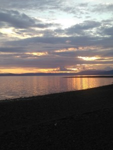 Sunset at Largs