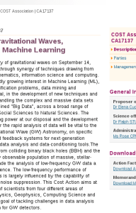 A network for Gravitational Waves, Geophysics and Machine Learning