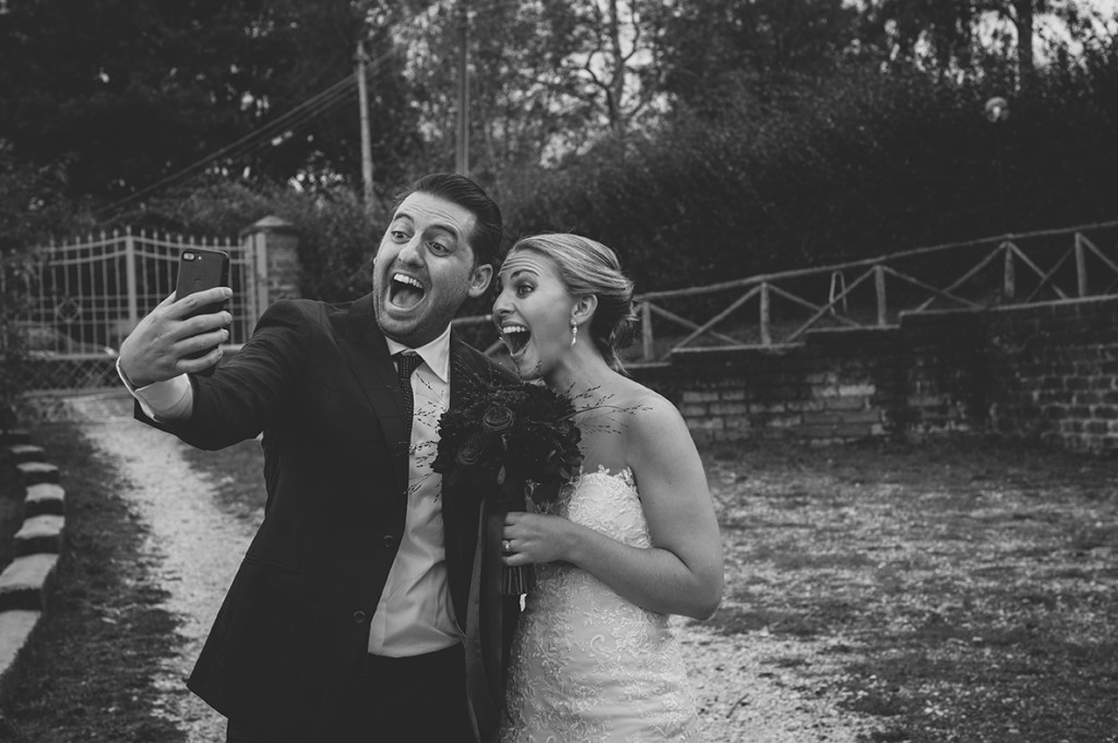Wedding Photography - Couple having a selfie
