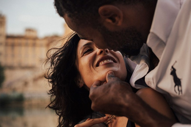 interracial couple close up sweet cuddles