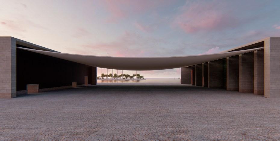 Pavillion 3d rendering, 3d Visualisierung, Fotorealistische Renderings