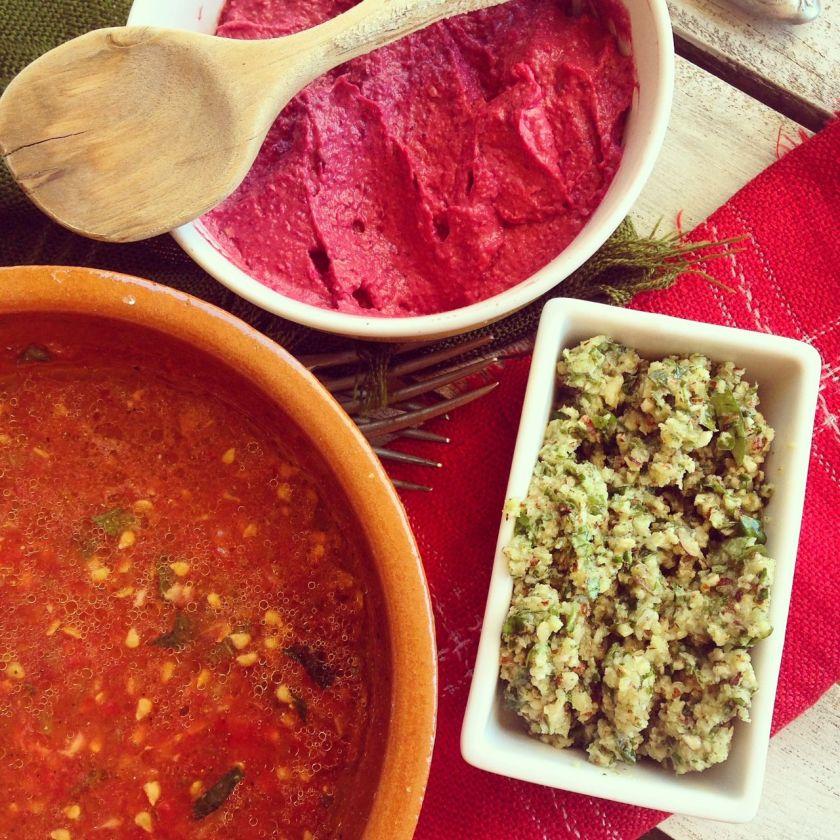 3 salsas raw