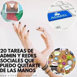 20 tareas de Admin y Redes Sociales