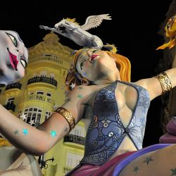 Enjoying the festivity of las Fallas in Valencia