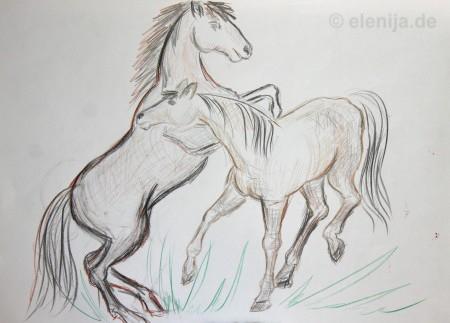 Skizze Pferd 2
