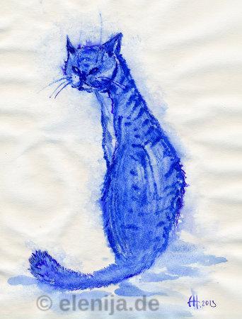 Blauer Kater, von Elenija