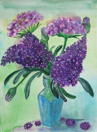 Blumen in der Morgendämmerung, von Elenija