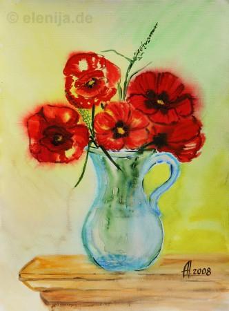 Blumen in der Kanne, von Elenija