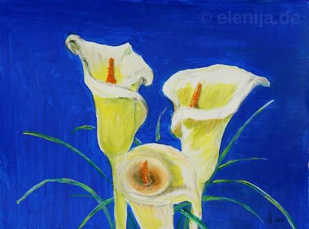 Weiß auf Blau, von Elenija