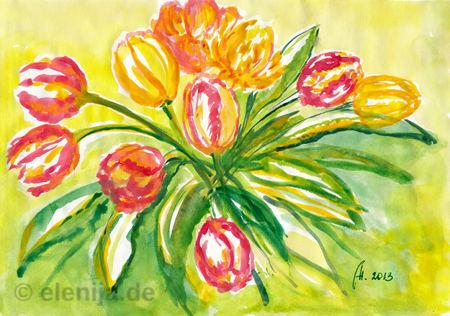 Tulpen in Februar, von Elenija
