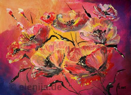 Blumenkomposition, von Elenija