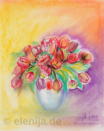 Rote Tulpen, von Elenija