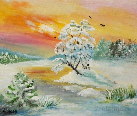 Eiskalter Tag, von Elenija